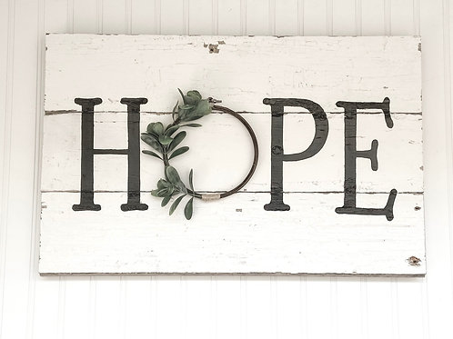 'HOPE' Barn Wood Sign