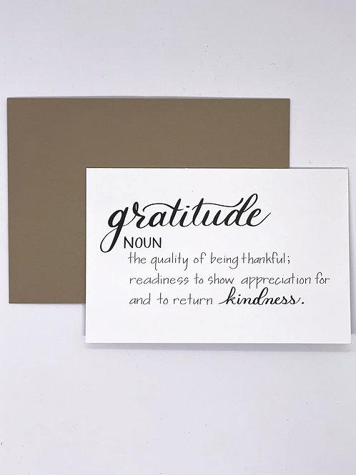 Greeting Card - Gratitude