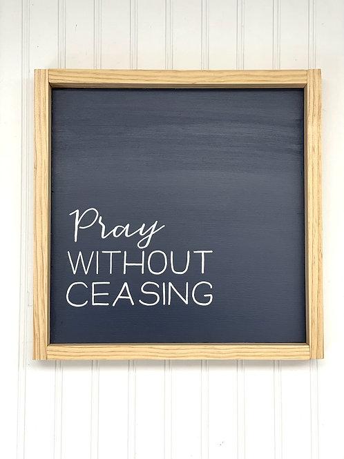 Simple Sentence Sign - Pray