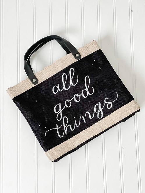 Personalized Apolis Market Bag (Black)