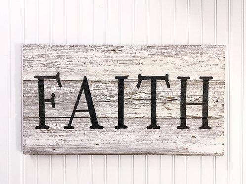Faith Barn Wood Sign