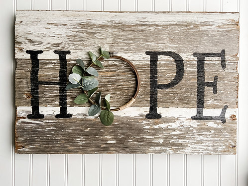 Hope Barn Wood Sign