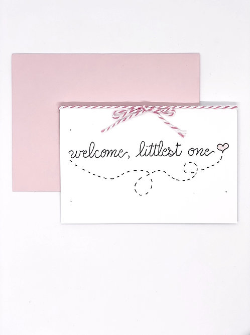 Greeting Card -  Littlest One (Pink)