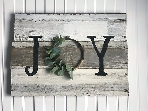 Joy Barn Wood Sign