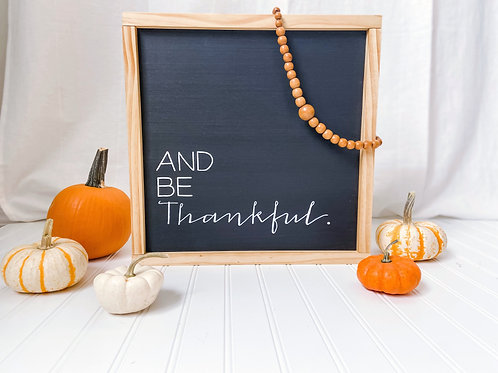 Simple Sentence Sign - Thankful