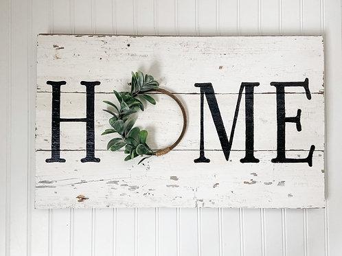 'HOME' Barn Wood Sign