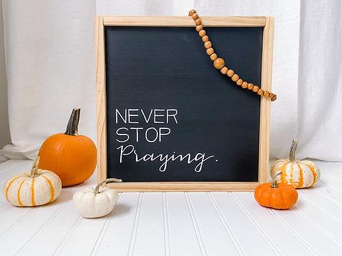 Simple Sentence Sign - Praying