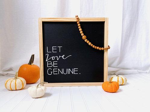 Simple Sentence Sign - Love