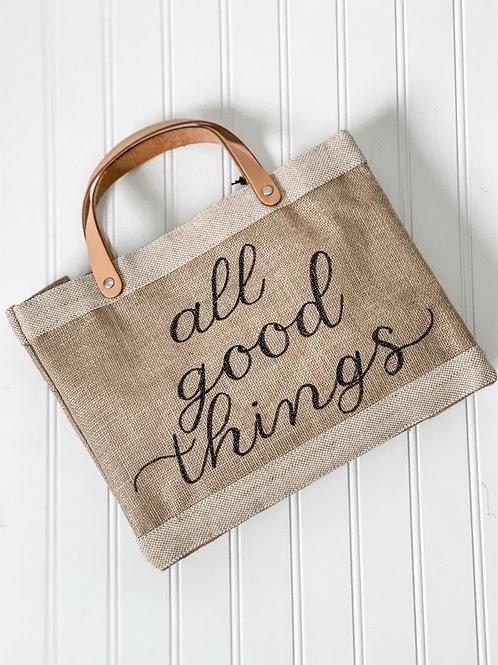Personalized Apolis Market Bag (Natural)