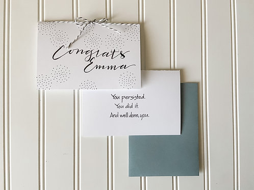 Personalized Congrats Card
