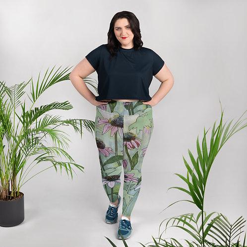 Coneflowers - Plus Size Leggings
