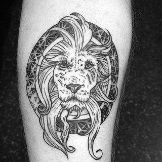 Gavin's forearm lion. I love it. Had a blast doing this tattoo.jpg
