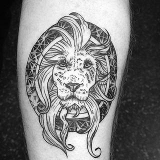 Gavin's forearm lion. I love it. Had a blast doing this tattoo.jpg