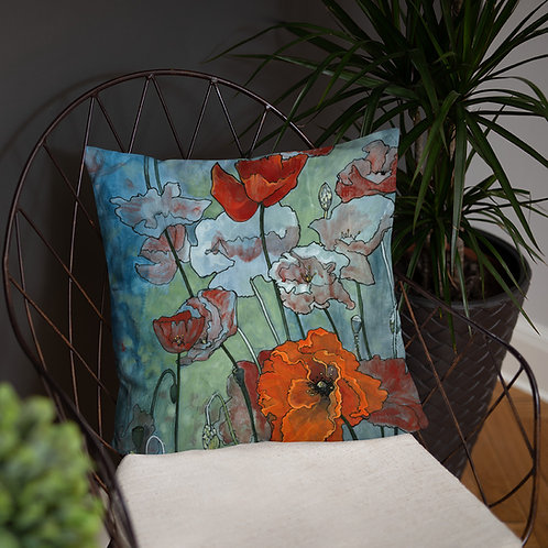 Poppies - Accent Pillow
