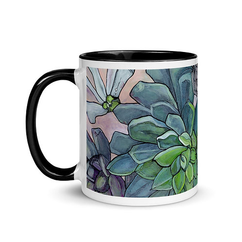 Hens & Chicks - Mug with Black Inside