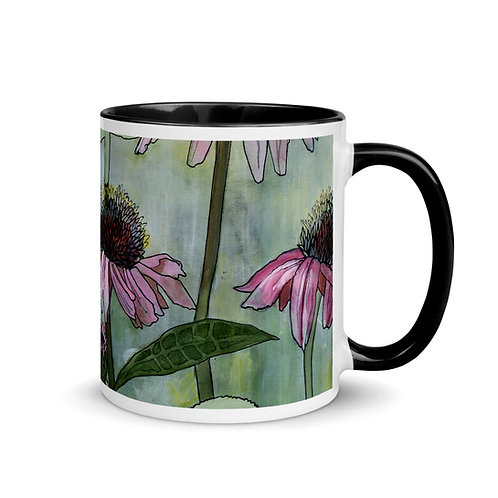 Coneflowers - Mug with Black Inside