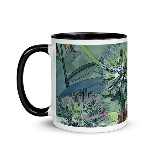 Field Flowers - Mug with Black Inside