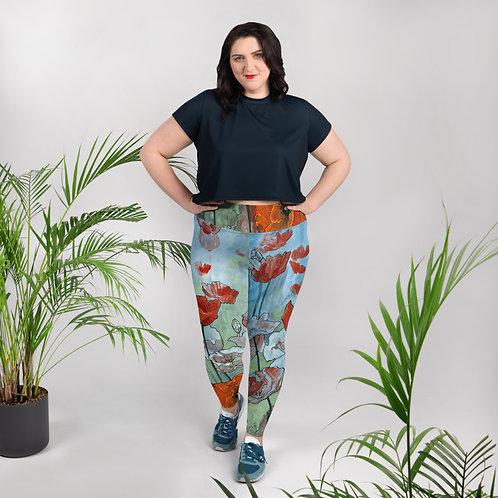 Poppies - Plus Size Leggings