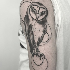 Fun owl for Devin. #tattoo #truetubes #s