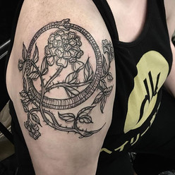 Ouroboros tattoo for Megan. Happy we wer