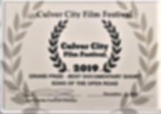 Culver City Film Festival Award Best Doc