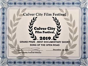 Culver City Film Festival GRAND PRIZE Be