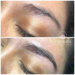 Before and After Brow Wax/Shape & Ti