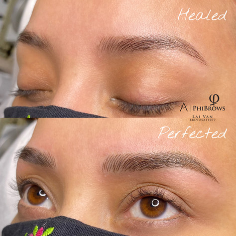 Healed Microblading