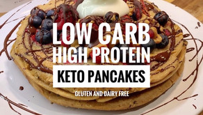 The Perfect Low Carb High Protein Keto Pancakes! Gluten and Dairy Free