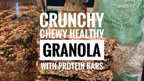 Crunchy, Chewy and Super Healthy Granola with Protein Granola Bars to Match! + Simple Smoothie Bowl