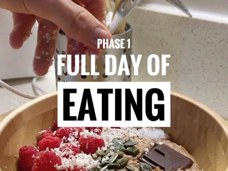 Phase 1 Full Day of Eating