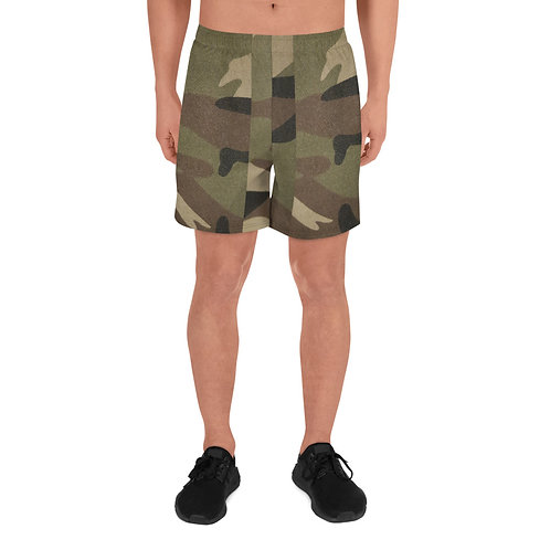 Camo Men's Athletic Long Shorts