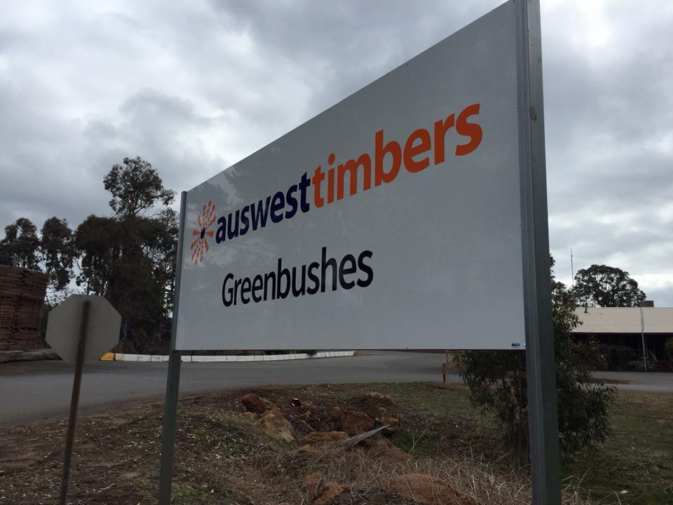 Auswest Timbers Greenbushes Entrance Sign