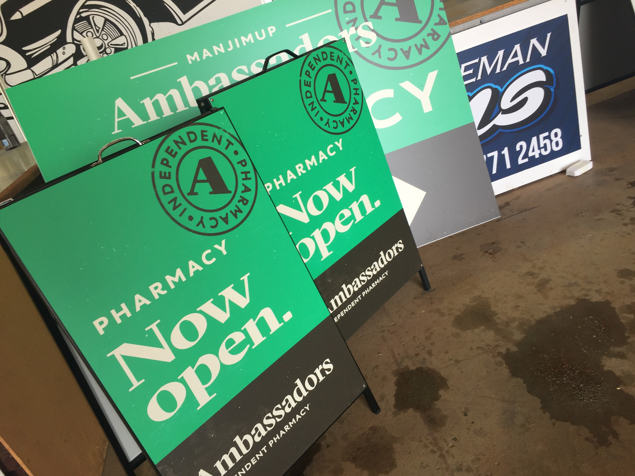 Ambassadors Pharmacy A-Frame Signs