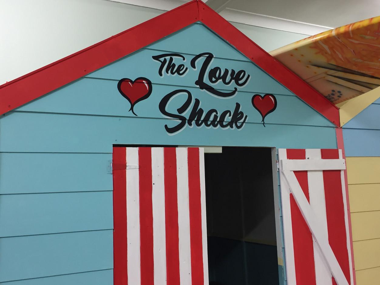 Fish 'n' Chips on Brockman Hand lettered hut