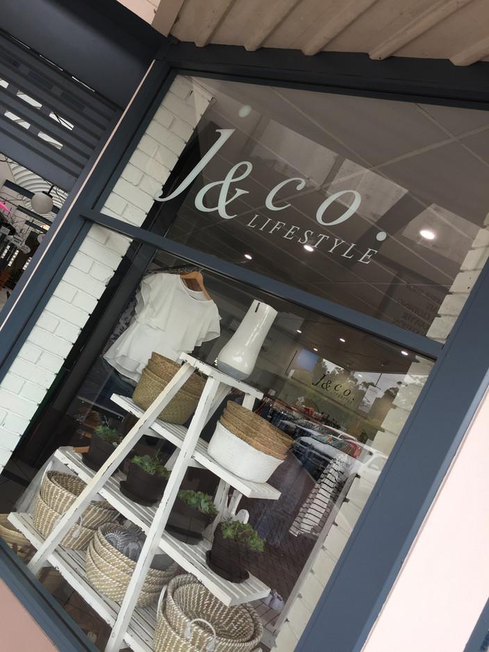 J & Co. Lifestyle Cut vinyl lettering