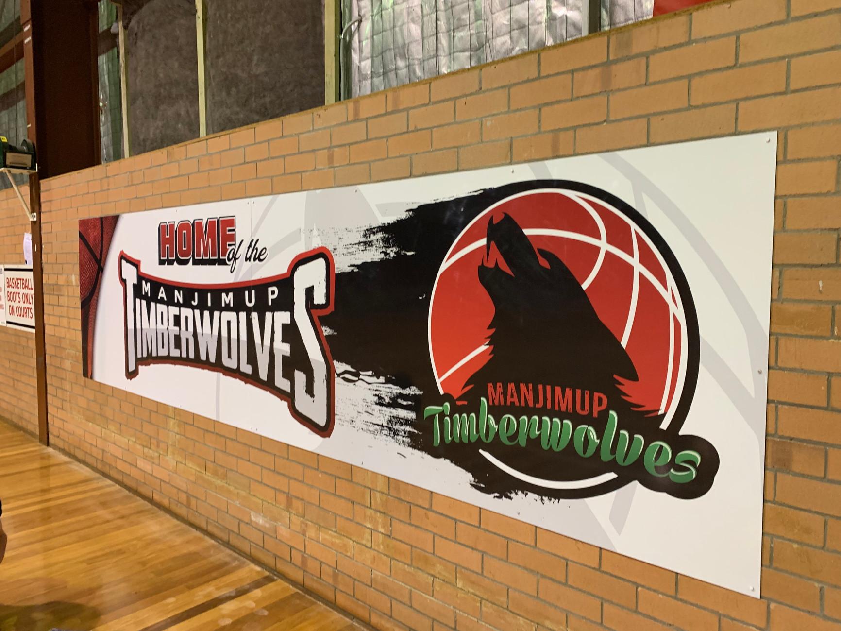 Manjimup Timberwolves ACM panel sign