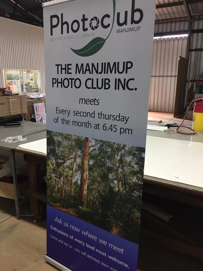 Manjimup Photoclub Pull-up Banner