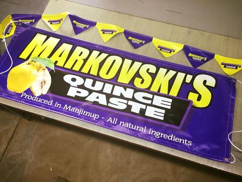 Markovski's Quince Paste Banner & Bunting