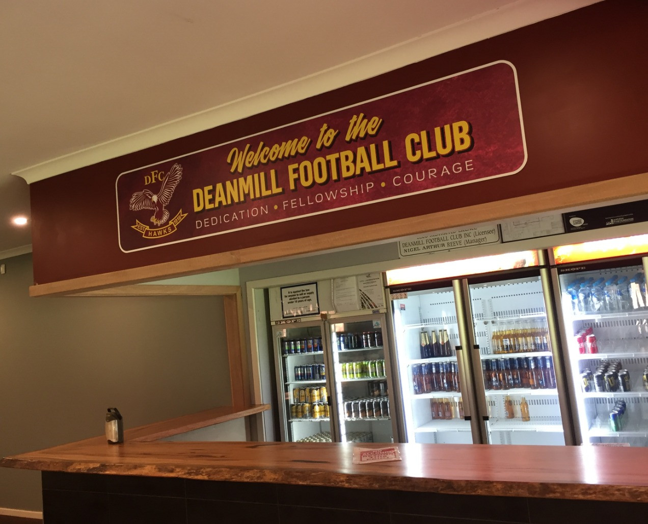 Deanmill Football Club 100th Anniversary Signs