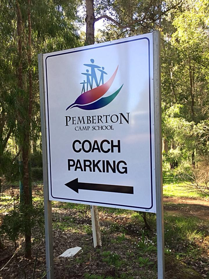 Pemberton Camp School Directional Sign