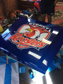 Sydney Roosters Car Bonnet