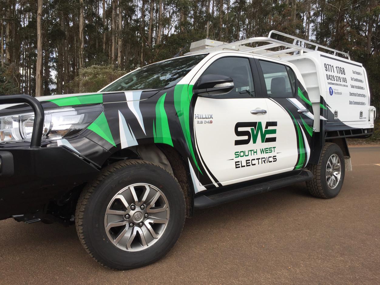 South West Electrics Vehicle Wrap