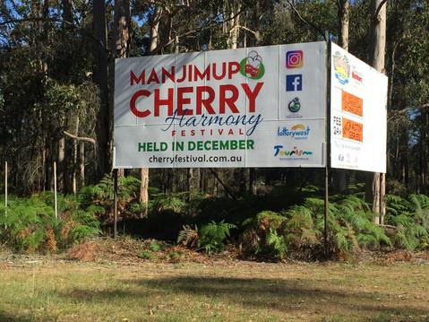 Manjimup Cherry Festival Highway Sign
