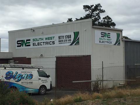 South West Electrics Shed Signage