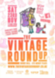 A poster advertising The Vintage Roundup on Saturday 23 Nov.