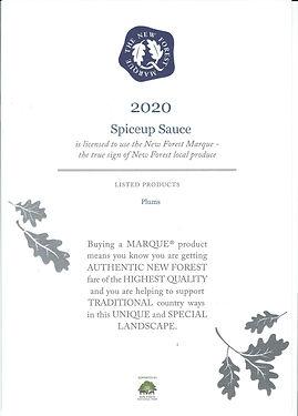 New Forest Marque memebership certificat