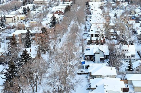 Winter scene of the city edmonton, alber