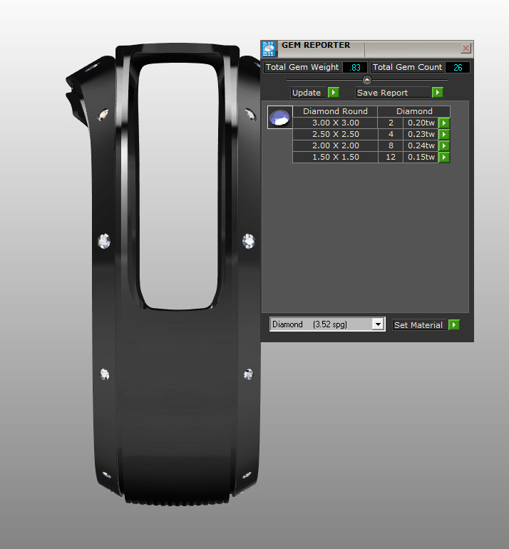 Gemstone Specs in CAD