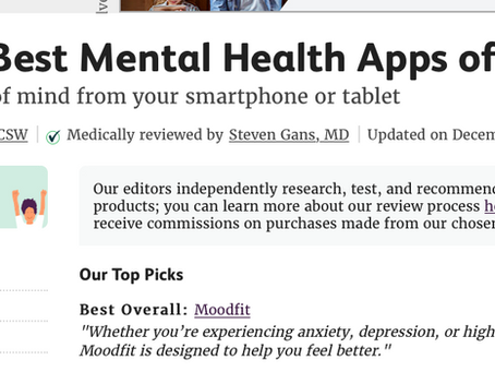 Moodfit Voted Best Overall Mental Health App of 2020